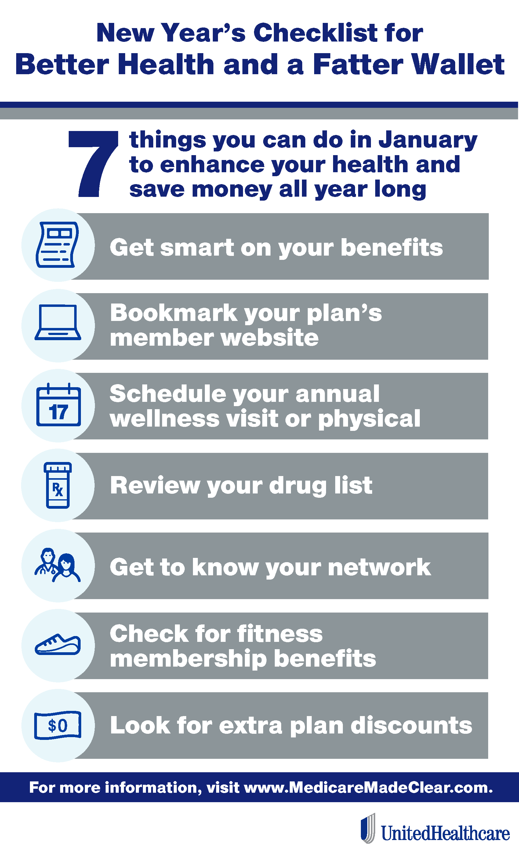 Infographic: New year's health benefit checklist