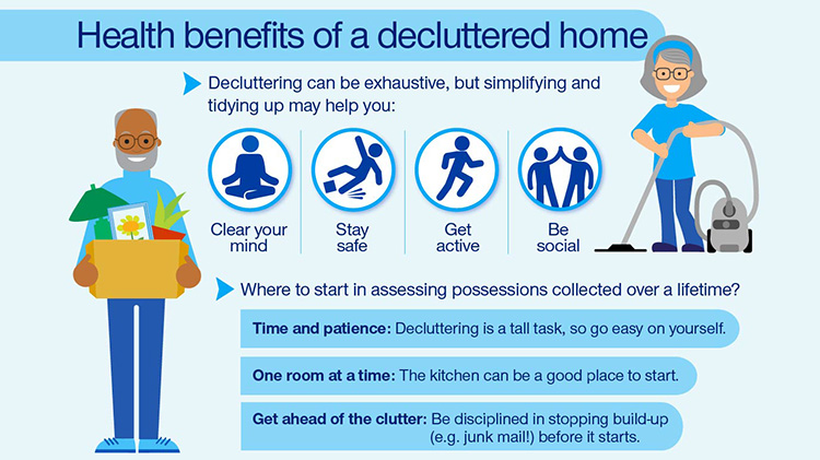 Infographic: Benefits of decluttering your home